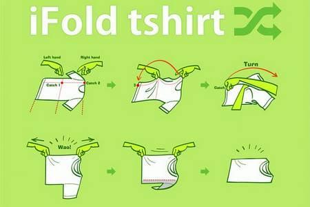 Học cách gấp quần áo của người Nhật Bản